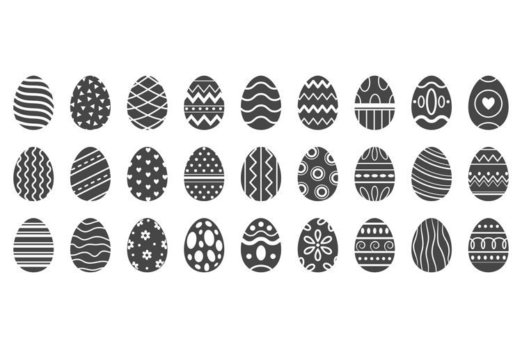 Easter eggs silhouette. Cute easters celebration egg, pascha example image 1