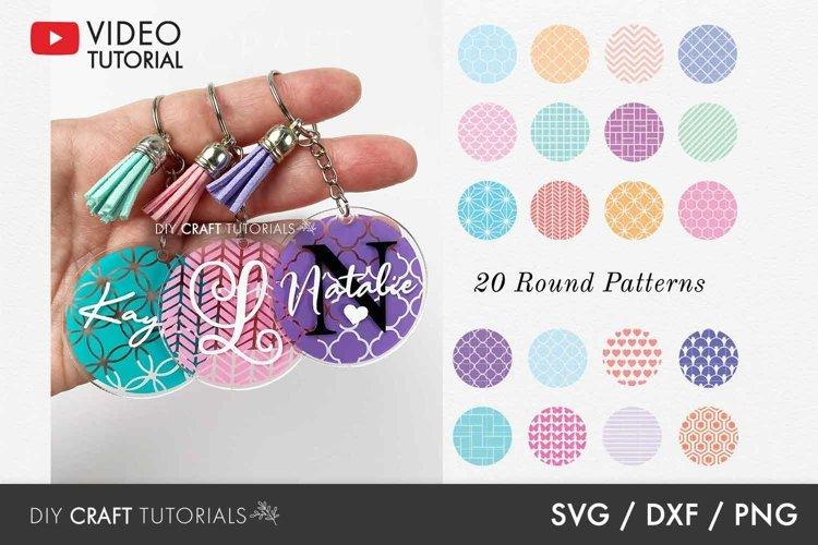 BEST SELLER - Round Pattern SVG Bundle, Keychain Pattern SVG
