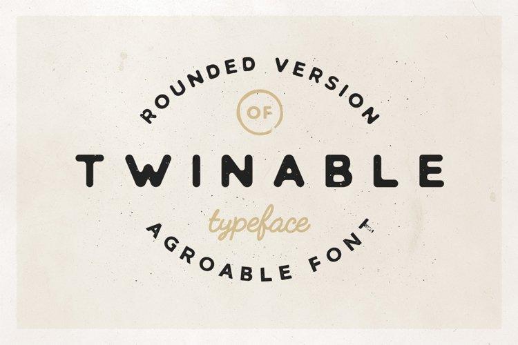 Twinable - Rounded Retro Font example image 1