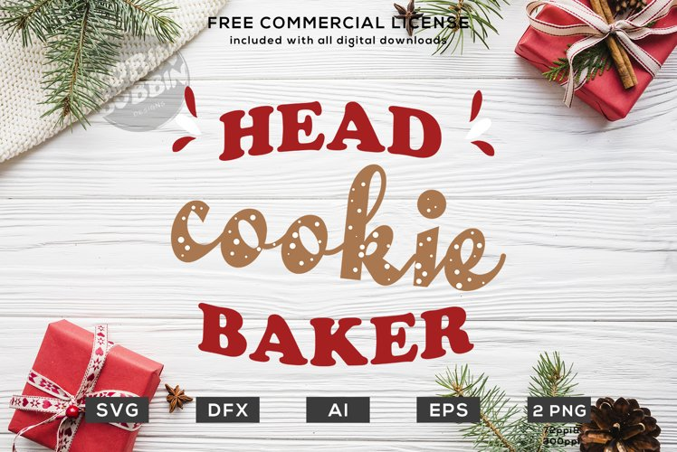 Head Cookie Baker - Christmas SVG File example image 1