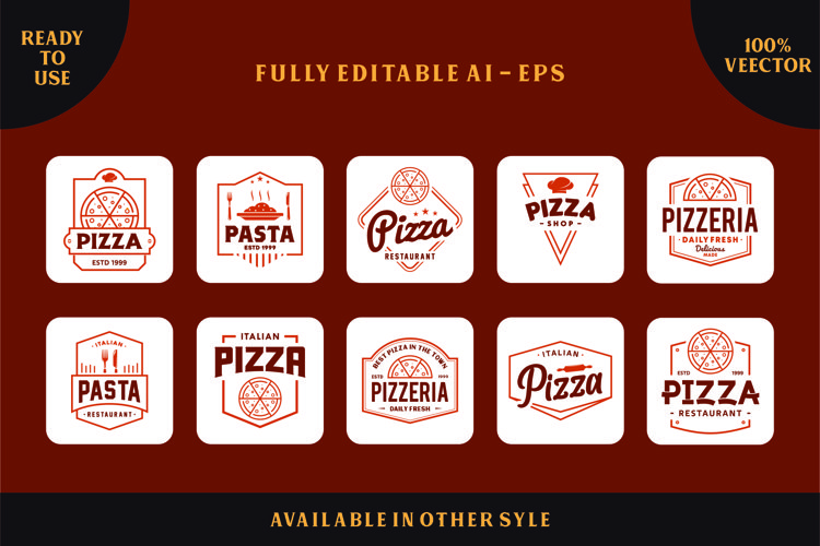Pizza Logo and Badges