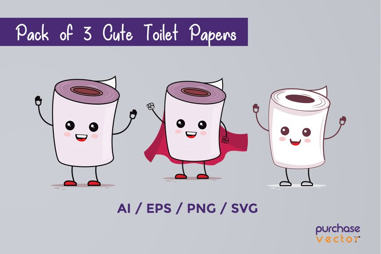 Cute Baby Toilet Papers SVG Cut File, EPS, PNG, AI