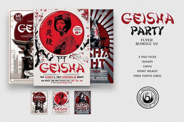 Geisha Party Flyer Bundle V2 example image 1