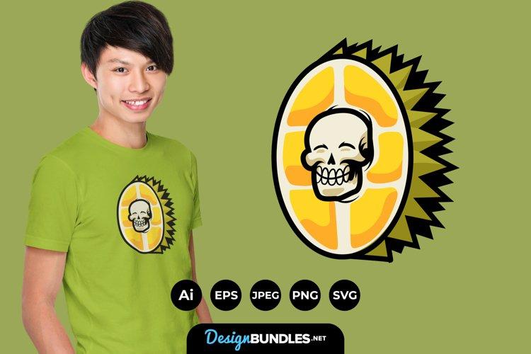 Skull Fruits for T-Shirt Design example image 1