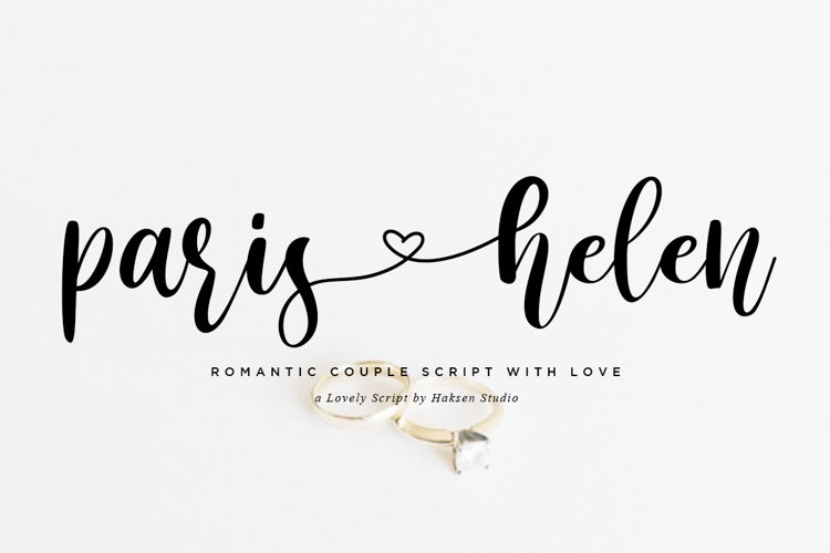 Paris Helen // Romantic Couple Love Script example image 1