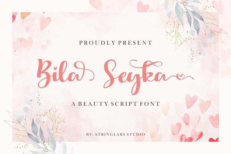 Bila Seyka - Lovely Script Font example image 1