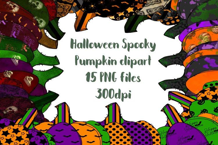 Sublimation clipart - Halloween Pumpkin Clipart - 15 colors