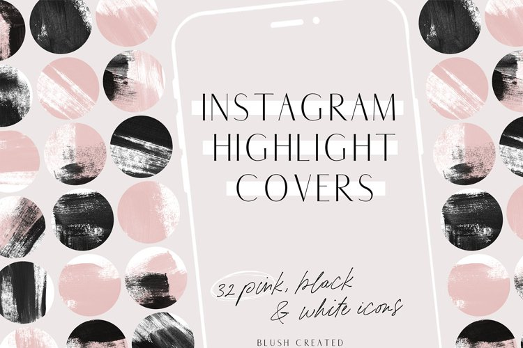 Pink & Black Instagram Highlight Cover Icons