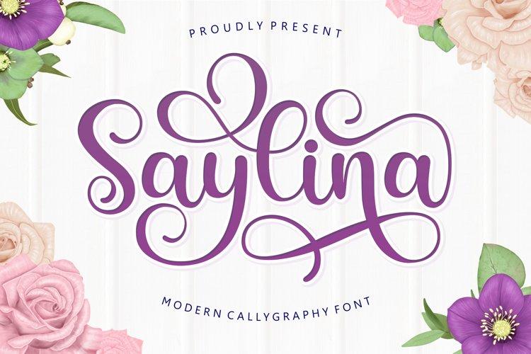 Saylina Script example image 1