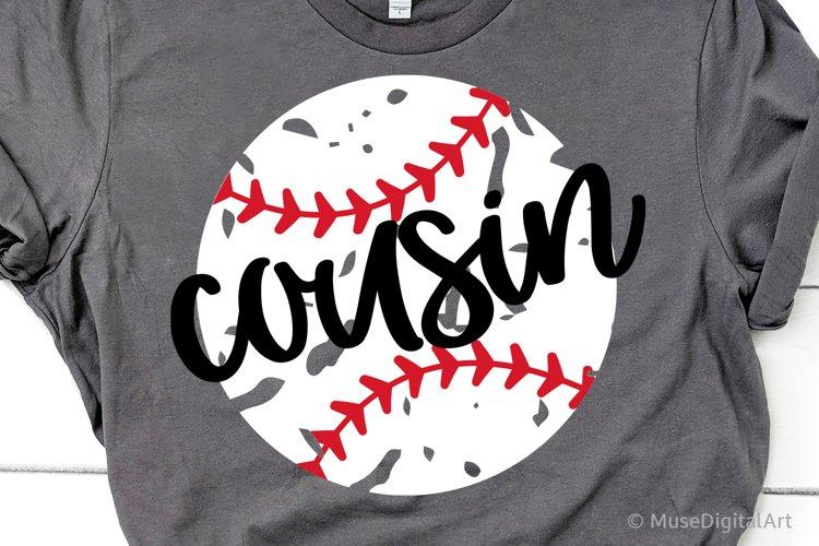 Baseball Cousin Svg, Baseball Svg, Little Sister Biggest Fan