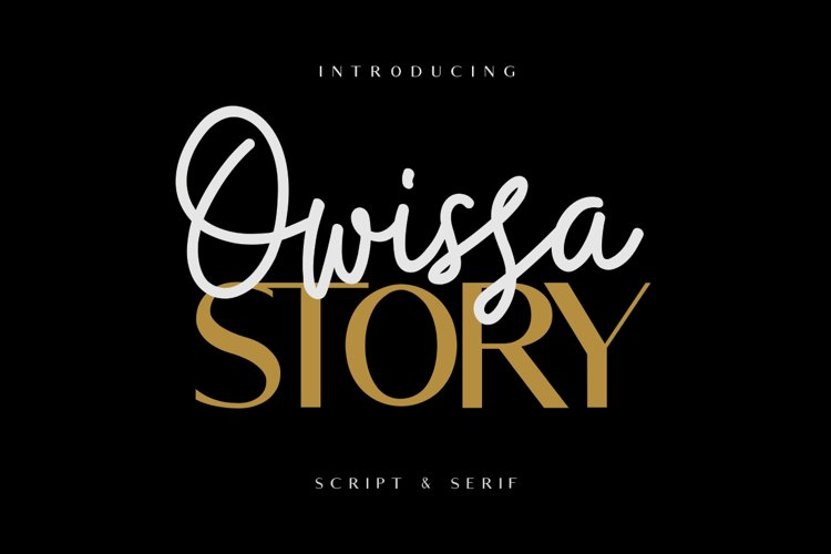 Owissa Story - Font Duo example image 1