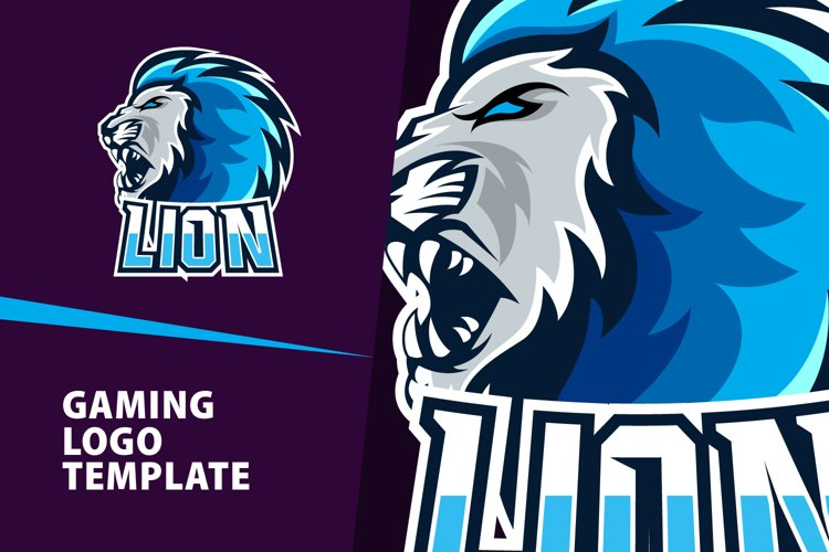 Lion Gaming Logo Template example image 1