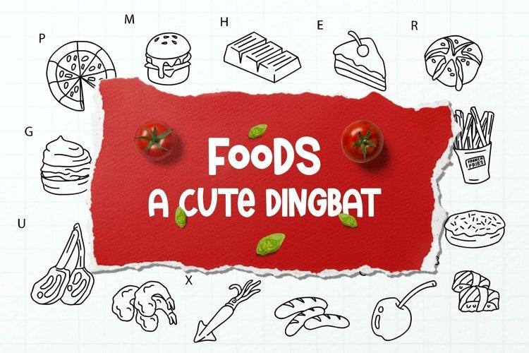 Web Font Food Dingbats Font example image 1