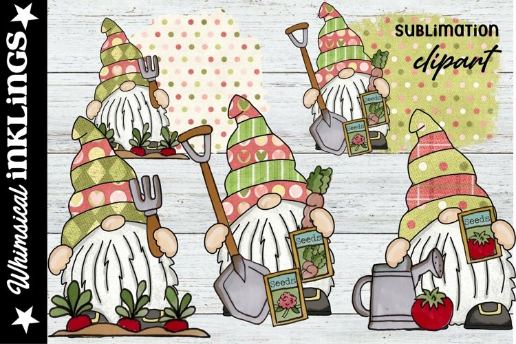Garden Time Gnomes Sublimation Set