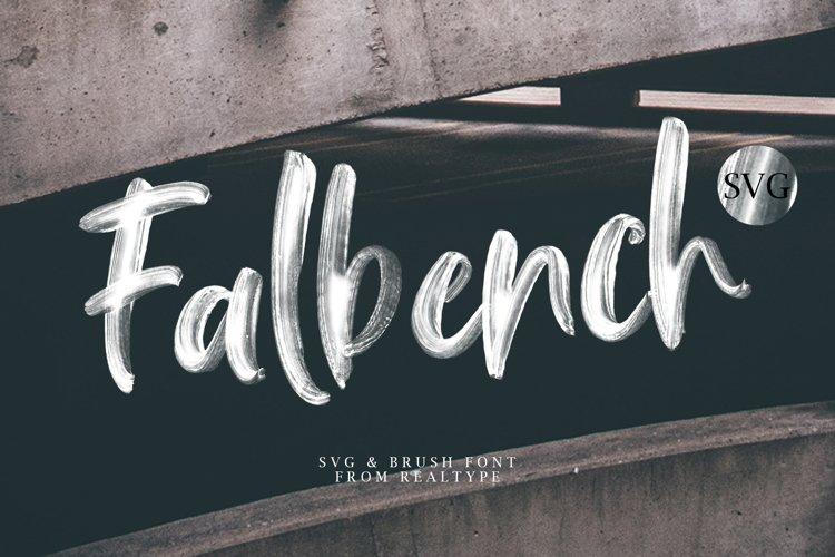 Falbench SVG & Brush Font example image 1