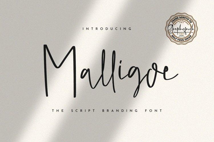 Malligoe - The Script Branding Font example image 1