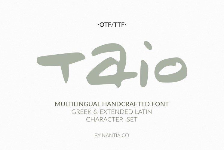 Taio Handwritten Greek Font example image 1