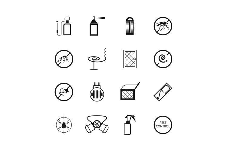 Insects and pest control vector pictograms example image 1