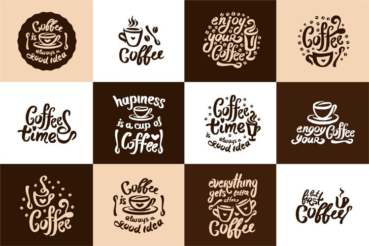 12 coffee hand drown illustrations example image 1