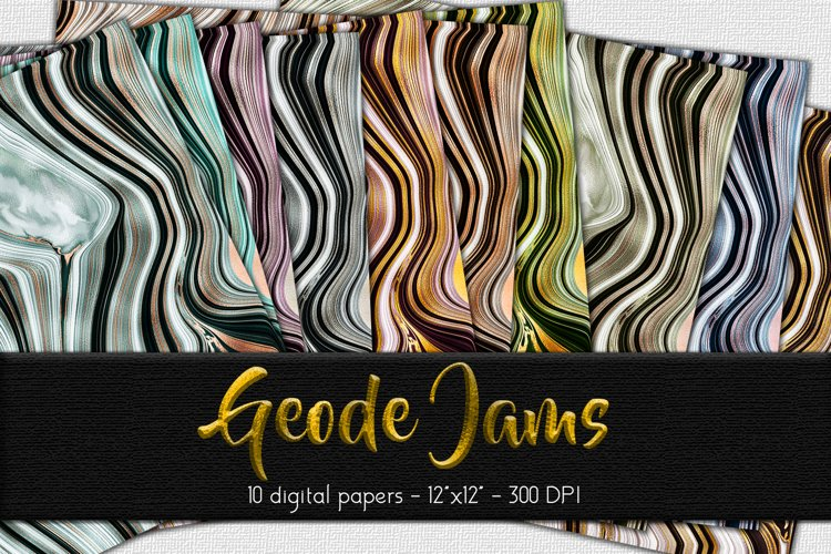 Geode Jams Digital Paper Set
