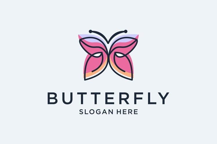 Butterfly logo design premium
