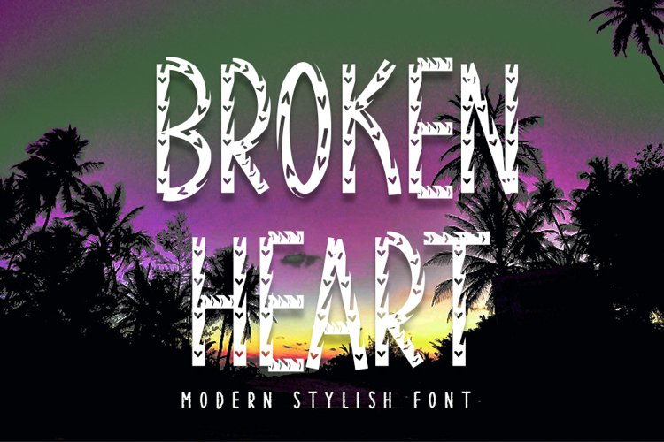 Broken Heart - Brush Font example image 1