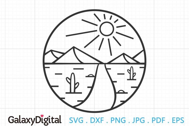 Desert SVG, Desert Scene SVG, Sun and Desert example image 1