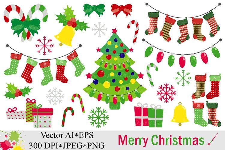 Merry Christmas Clipart - Vector