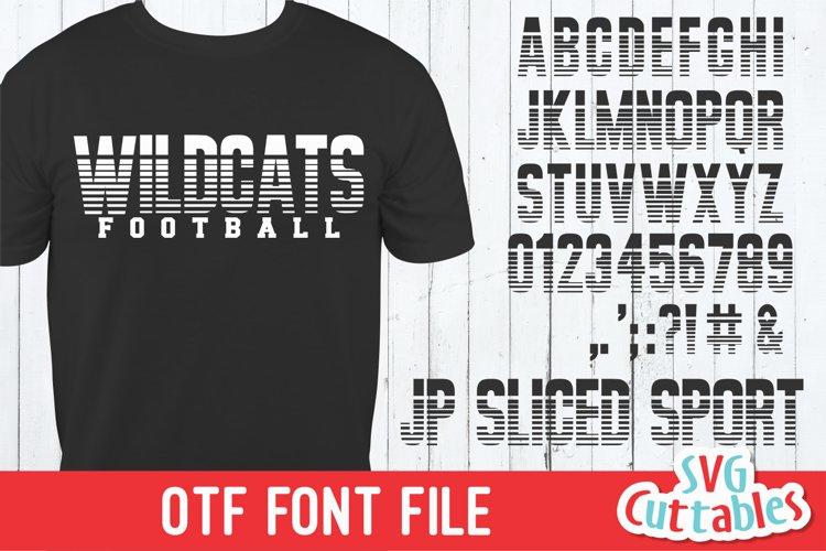 JP Sliced Sport | Athletic Font | Collegiate Font
