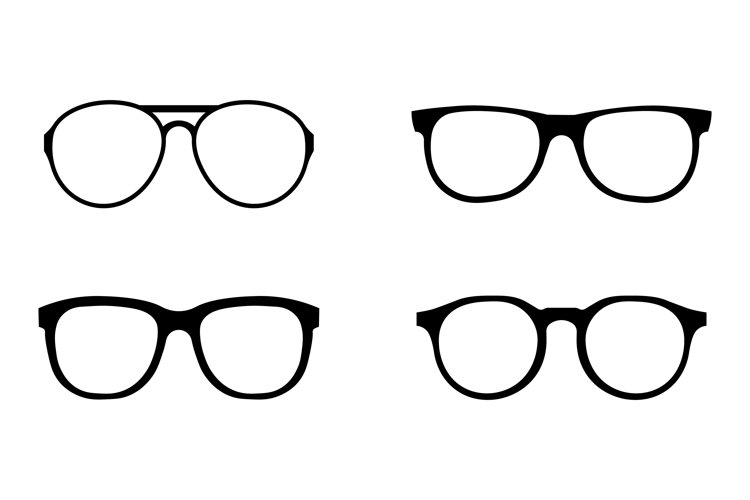 Glasses icons set example image 1
