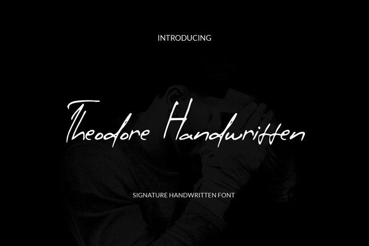 Theodore Handwritten example image 1