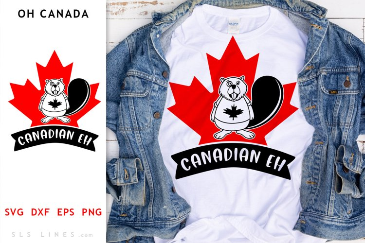 Canada Day Beaver SVG - Canadian Eh Cut File
