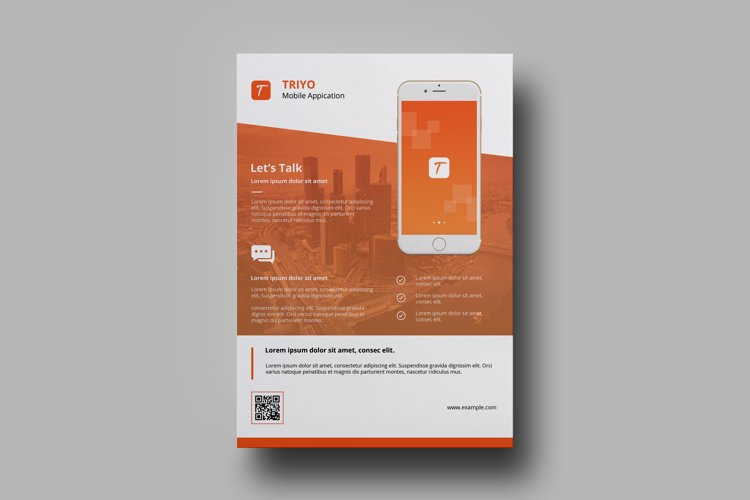 Mobile application flyer