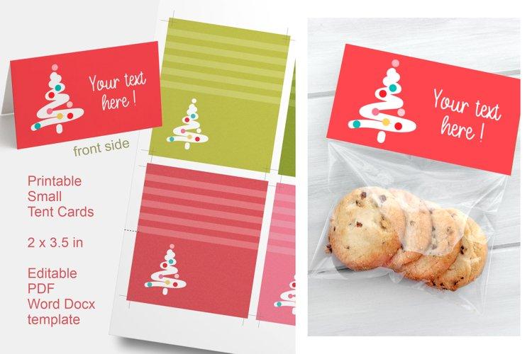 Foldable Cards Christmas Tree Editable PDF Word Docx PNG example image 1