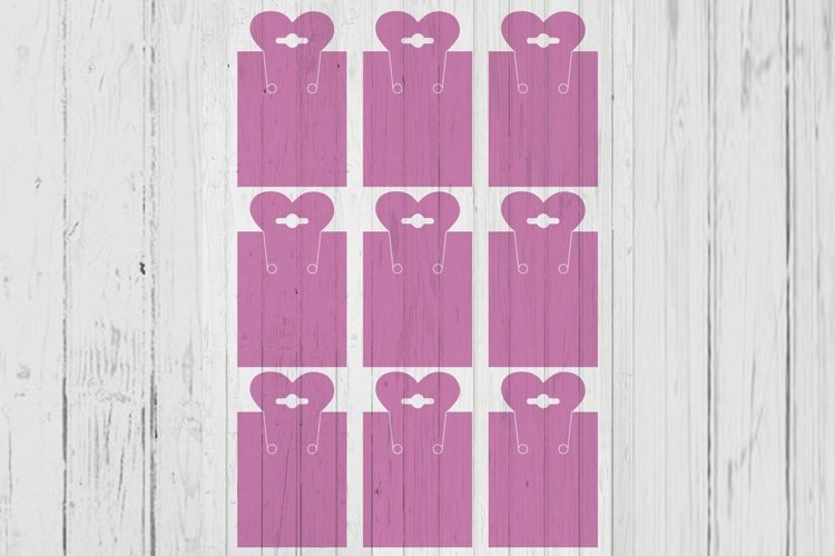 Heart top necklace card template svg png ai files