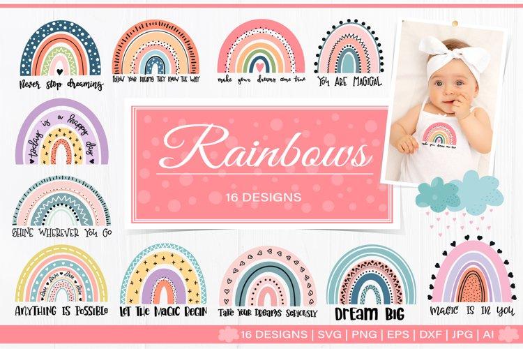 Rainbow scandinavian SVG bundle example image 1
