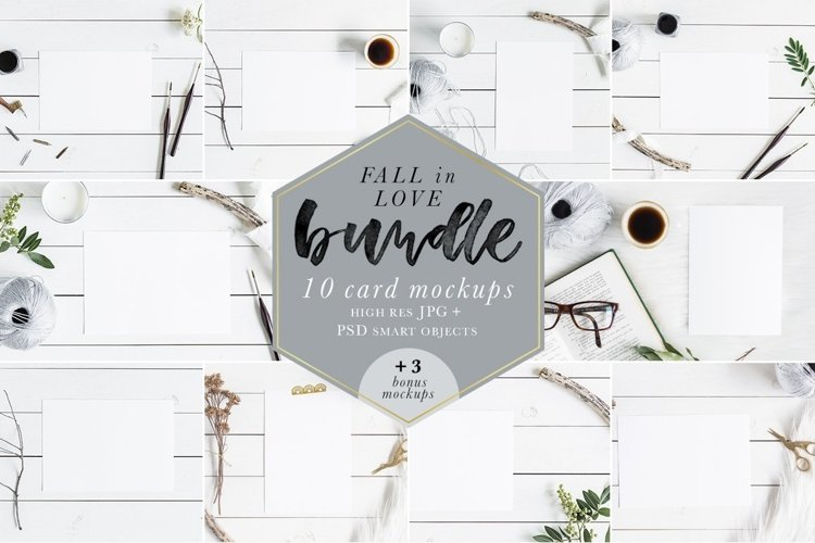 Fall In Love Bundle Mockups example image 1