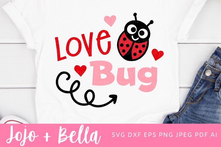 Love Bug Svg | Love Svg | Valentine's Day Svg example image 1