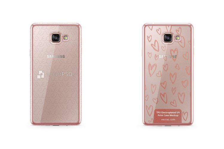 Samsung Galaxy A7 2016 TPU Electroplated Case Mock-up example image 1