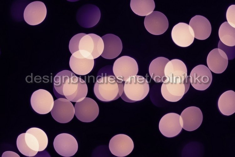 Violet bokeh lights glow on black example image 1