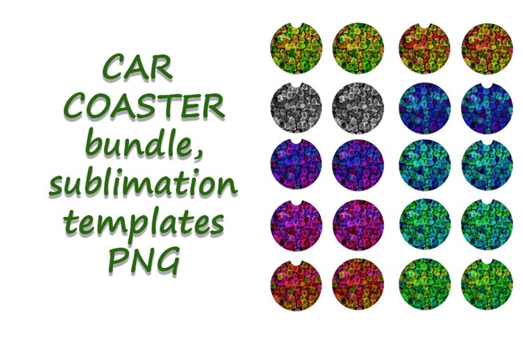 Car Coaster Sublimation Abstract Template Bundle