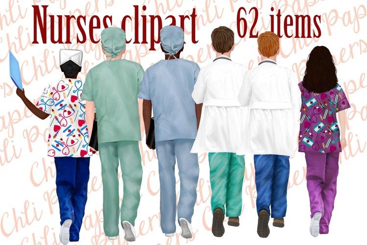 Nurses clipart,Medical clipart,Custom Nurse,Doctor clipart example image 1
