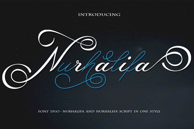 Nurhalifa Font Duo example image 1