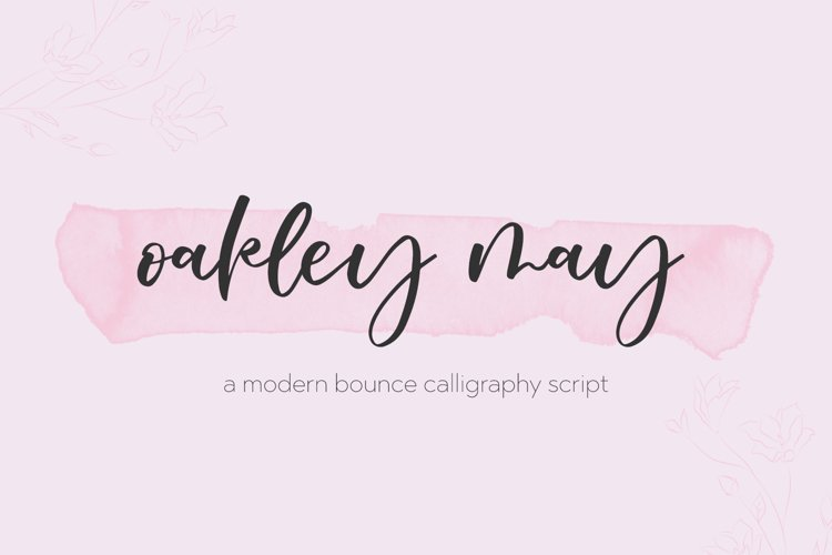 Oakley May Calligraphy Font example image 1