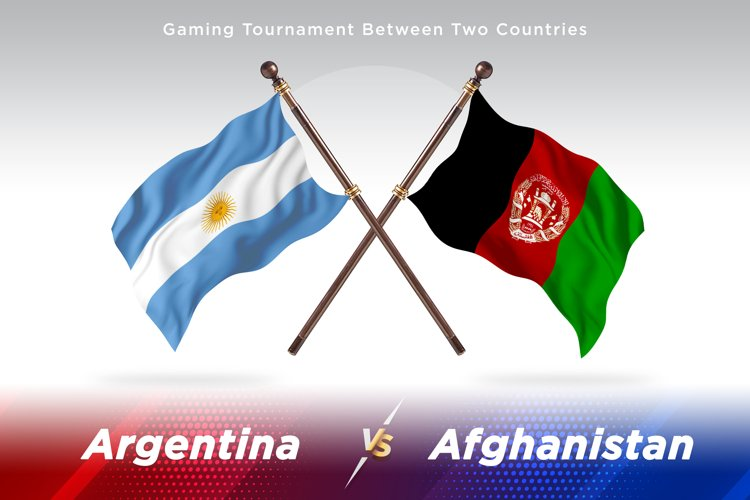 Argentina vs Afghanistan Two Flags example image 1
