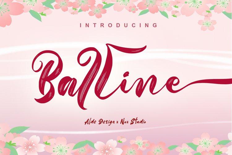 Balline // Wedding Script Font - WEB FONT example image 1