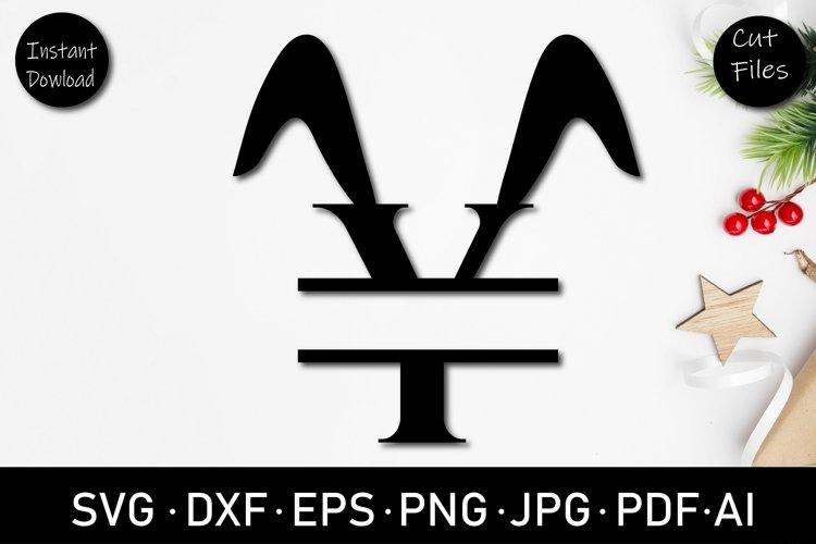 Easter Split letter Y monogram SVG, cut file, Dxf, Png, eps