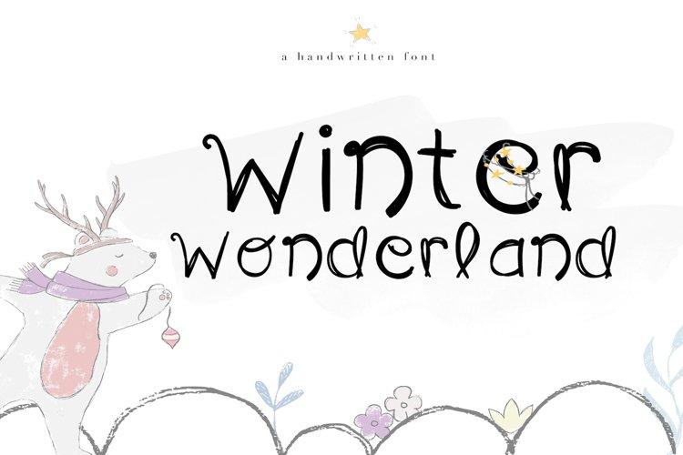 Winter Wonderland - A Fun Handwritten Font example image 1