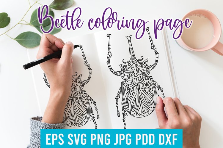Beetle Insect coloring page. Beetle SVG