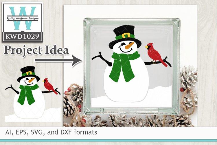 Winter SVG - Snowman and Cardinal